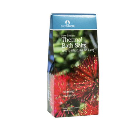 New Zealand Thermal Bath Salts with Pohutukawa Leaf – 100g