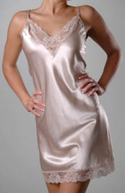 Farr West Beautiful Plus Lace Trim Satin Full Slip