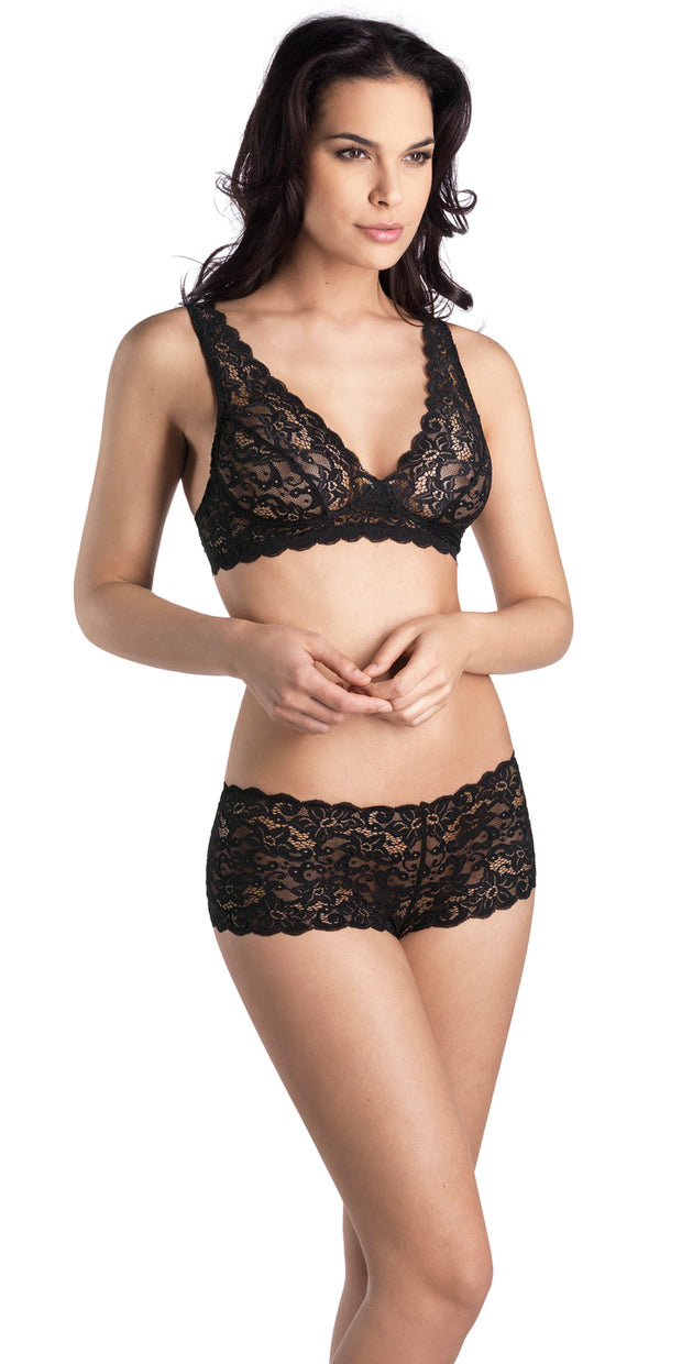 Hanro Luxury Moments All Lace Soft Cup Bra - Black