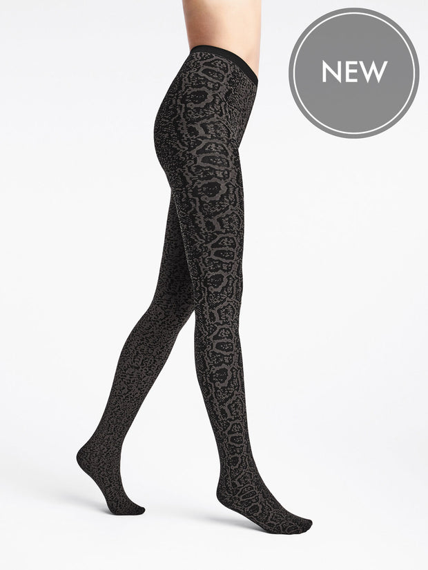 Wolford Blotched Snake Design Tights