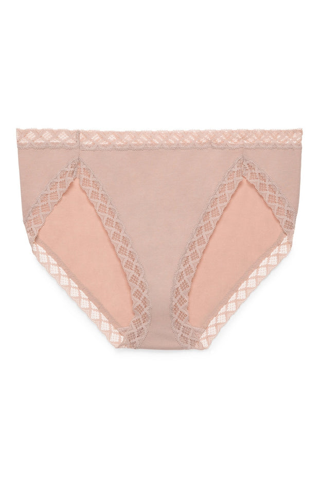 Natori Bliss Cotton French Cut Panty - Rose Beige