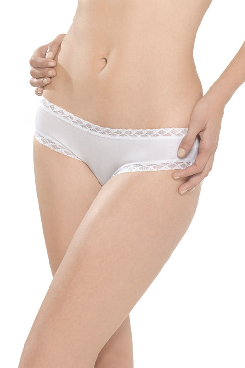 Natori Bliss Girl Brief Panty - White