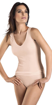 Hanro Cotton Seamless V-Neck Tank