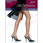 Hanes Hosiery Silk Reflections Control Top Pantyhose Sandalfoot