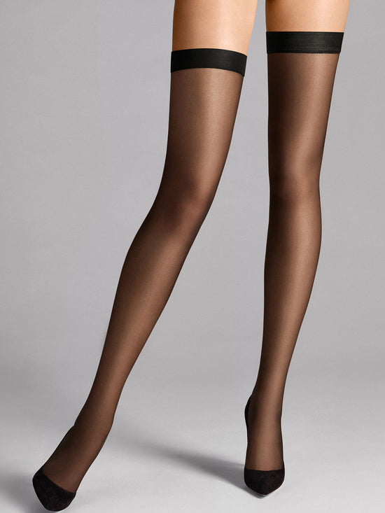 Wolford Individual 10 Stay-Up Sheer Thigh Highs