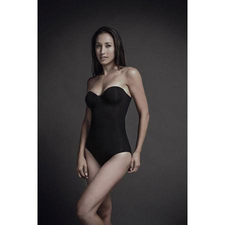 Body Wrap Bodysuit Strapless with Padded Cups