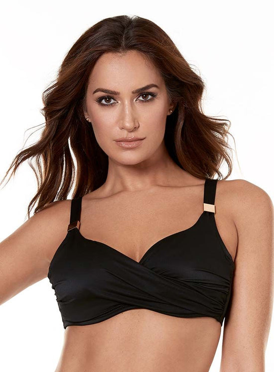 Miraclesuit Solid Surplice Bra Swim Top