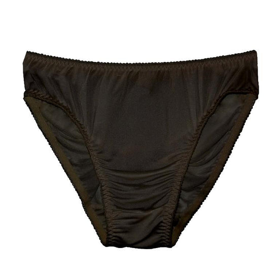 Linda Hartman Silk Knit High Cut Brief