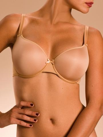 Chantelle Basic Invisible Memory Foam T-Shirt Bra - Toffee