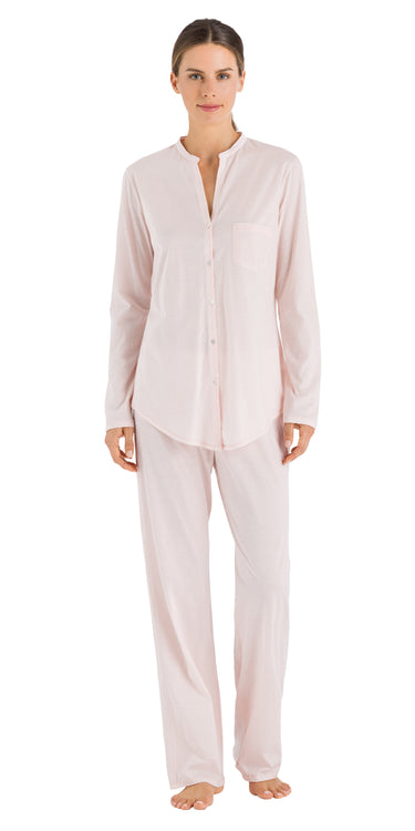 Hanro Cotton Deluxe Long Sleeve Button Front Pajama