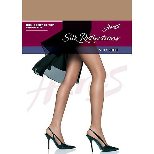 Hanes Silk Reflections Non-Control Top Sheer Toe Pantyhose - Town Shop  - 1