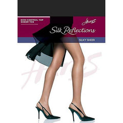 Hanes Silk Reflections Non-Control Top Sheer Toe Pantyhose - Town Shop  - 2