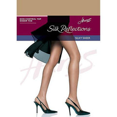 Hanes Silk Reflections Non-Control Top Sheer Toe Pantyhose - Town Shop  - 4