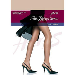 Hanes Silk Reflections Non-Control Top Sheer Toe Pantyhose - Town Shop  - 3