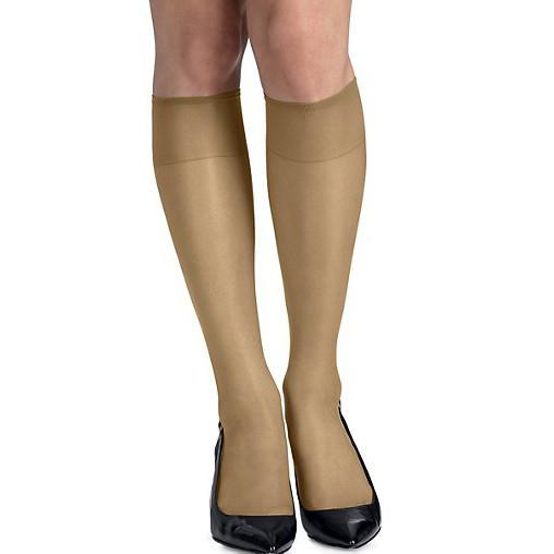 Hanes Hosiery Silk Reflections Knee Highs Reinforced Toe