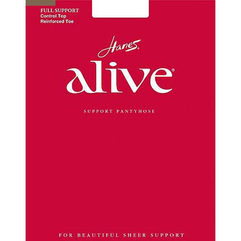 Hanes Alive Control Top Sheer Toe Pantyhose