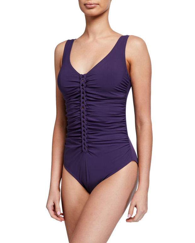 Karla Colletto Joana V Neck Silent Underwire Swimsuit