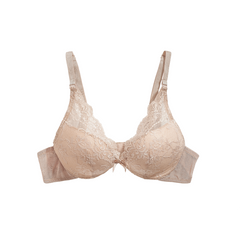 The Little Bra Company Lucia Lace Plunge Push-Up Bra