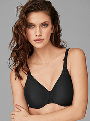 Wacoal Bodysuede Ultra Full Figure Seamless Underwire Bra - Black