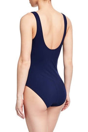 Karla Colletto Smart Suit V-Neck Underwire One Piece Swimsuit