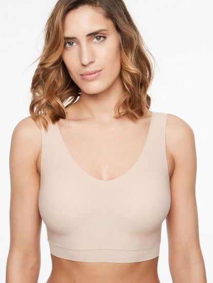 Chantelle Soft Stretch Padded V-Neck Bra Top