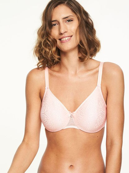 Chantelle C Magnifique Molded Underwire Bra - Blush