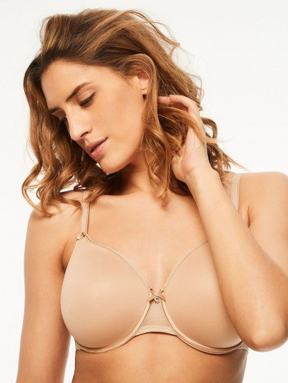 Chantelle C Magnifique Seamless Smooth Minimizer Bra - Nude