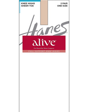 Hanes Alive Full Support Sheer Knee Highs