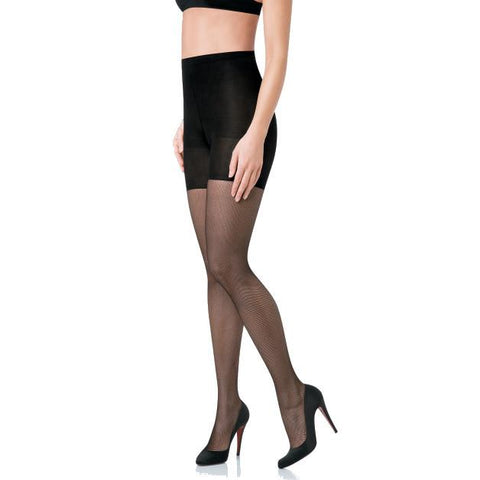 Spanx Tight-End Tights with Micro Fishnets