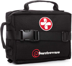 Surviveware Organized First Aid Kit - for vehicles, outdoors, survival, Tactical