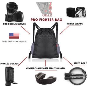Complete PRO Fighter's Bag - Boxing, Muay Thai, Kickboxing