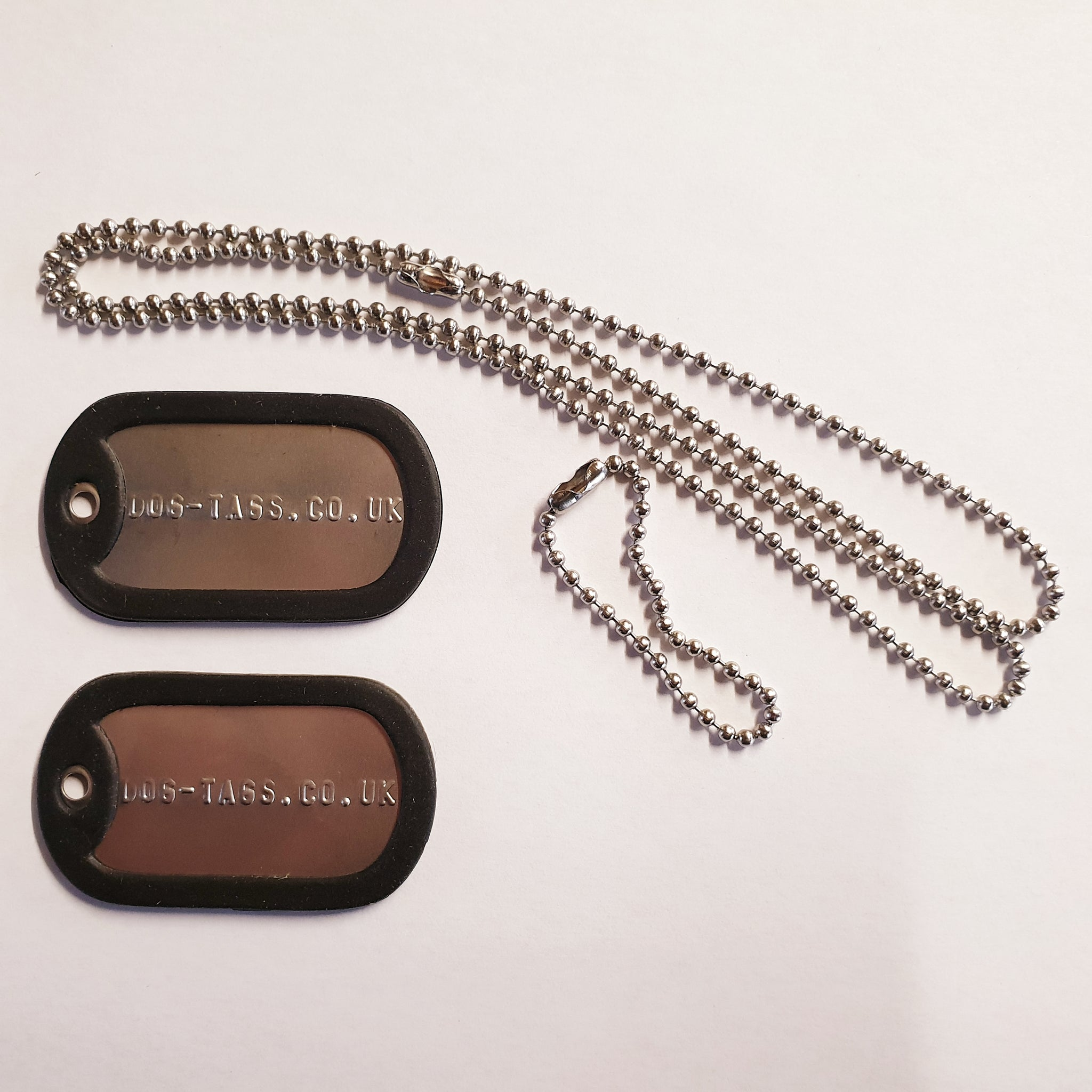 Military Full Dog Tag Set - Printed
