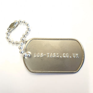 Single Dog Tag With 3.2mm Ball Short Chain Special Offer - Printed