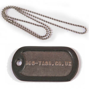 NHS DISCOUNTED Single Dog Tag Set With Long Chain - Printed