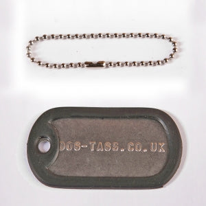 Single Dog Tag Set With Short Chain - Printed
