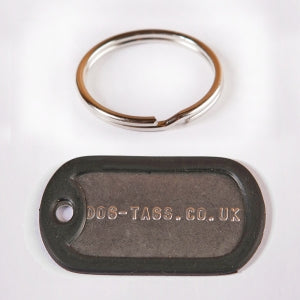 Single Dog Tag Set With Split Ring - Printed