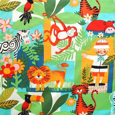 "ALEXANDER HENRY ""COO COO JUNGLE"" Multi by 1/2 yard"