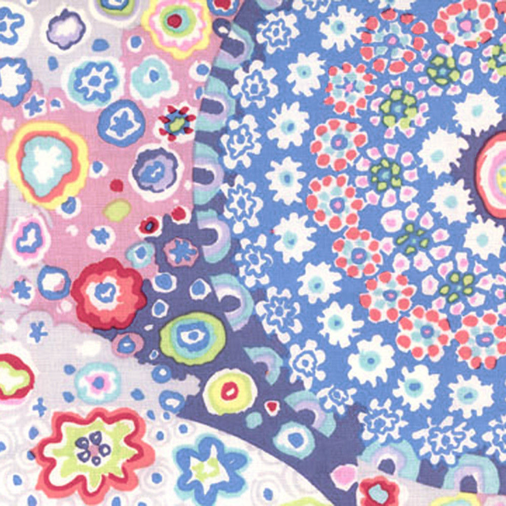 "KAFFE FASSETT ""MILLEFIORE"" GP92 PASTEL  by the 1/2 yard"