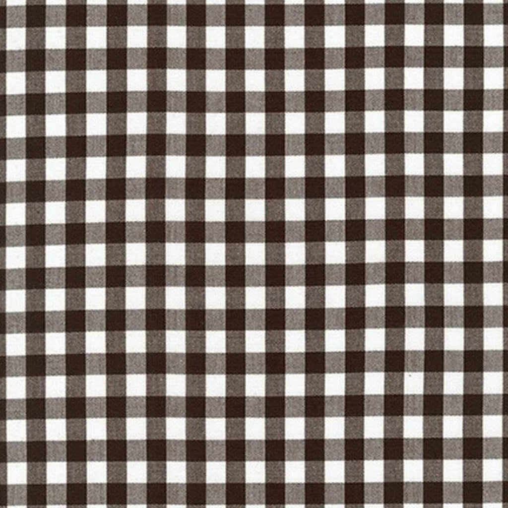 "ROBERT KAUFMAN ""KITCHEN WINDOW WOVEN"" GINGHAM AZH-17722-174 ESPRESSO by the 1/2 yard"