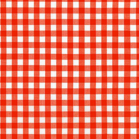 "ROBERT KAUFMAN ""KITCHEN WINDOW WOVEN"" GINGHAM AZH-17722-101 FLAME by the 1/2 yard"