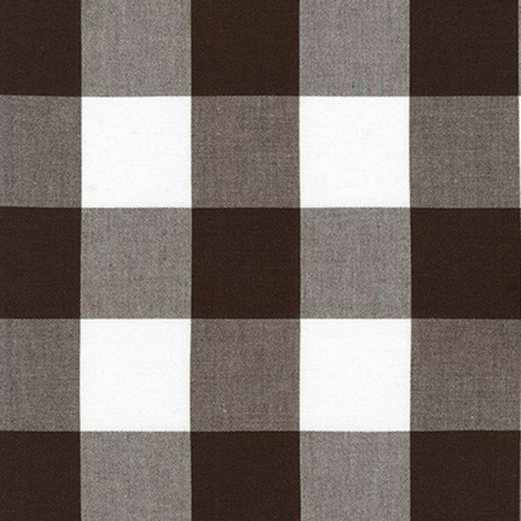 "ROBERT KAUFMAN ""KITCHEN WINDOW WOVEN"" GINGHAM AZH-17723-174 ESPRESSO by the 1/2 yard"