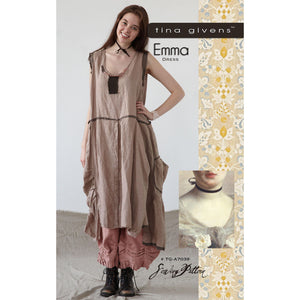 "TINA GIVENS ""EMMA DRESS"" Sewing Pattern"
