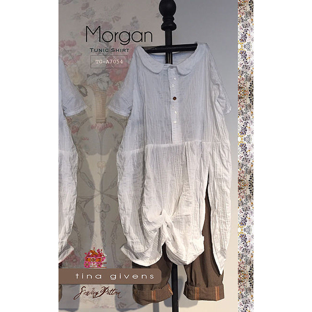 "TINA GIVENS ""MORGAN TUNIC SHIRT"" Sewing Pattern"