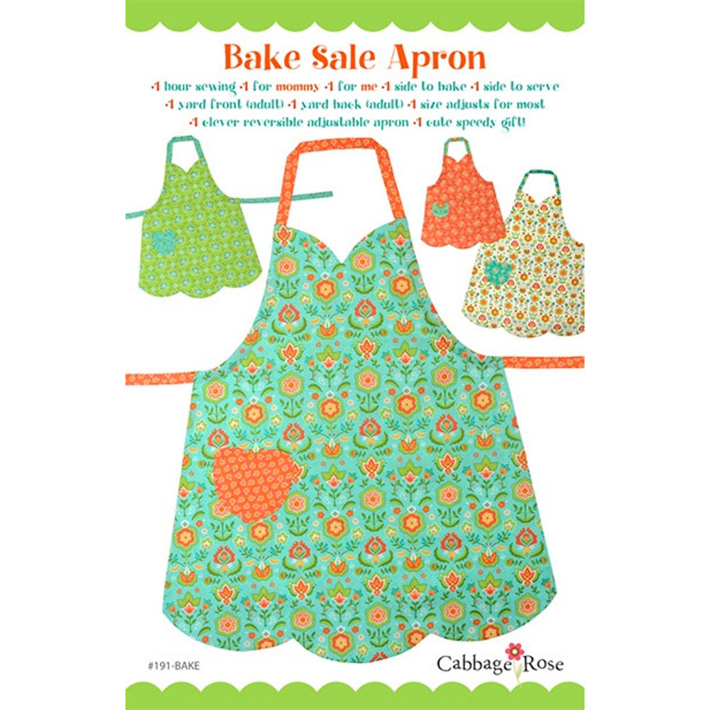 "CABBAGE ROSE ""BAKE SALE APRON MOMMY & ME"" Sewing Pattern"