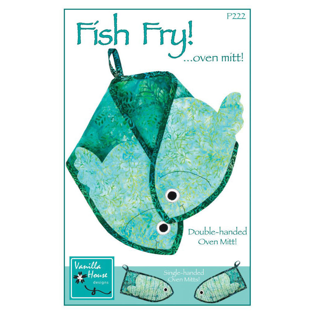 "VANILLA HOUSE ""FISH FRY!...OVEN MITT!"" Sewing Pattern"
