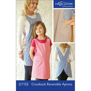"INDYGO JUNCTION ""CROSSBACK REVERSIBLE APRON"" Sewing Pattern"