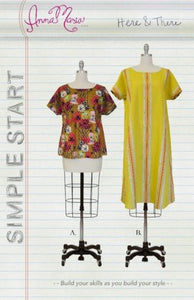 "ANNA MARIA ""SIMPLE START"" HERE & THERE TUNIC AND BLOUSE sewing pattern"