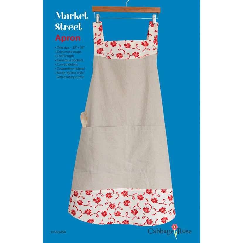 "CABBAGE ROSE ""MARKET STREET APRON"" Sewing Pattern"