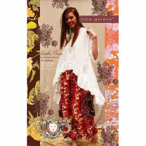 "TINA GIVENS ""LUELLA TUNIC & CARGO PANTS"" Sewing Pattern"