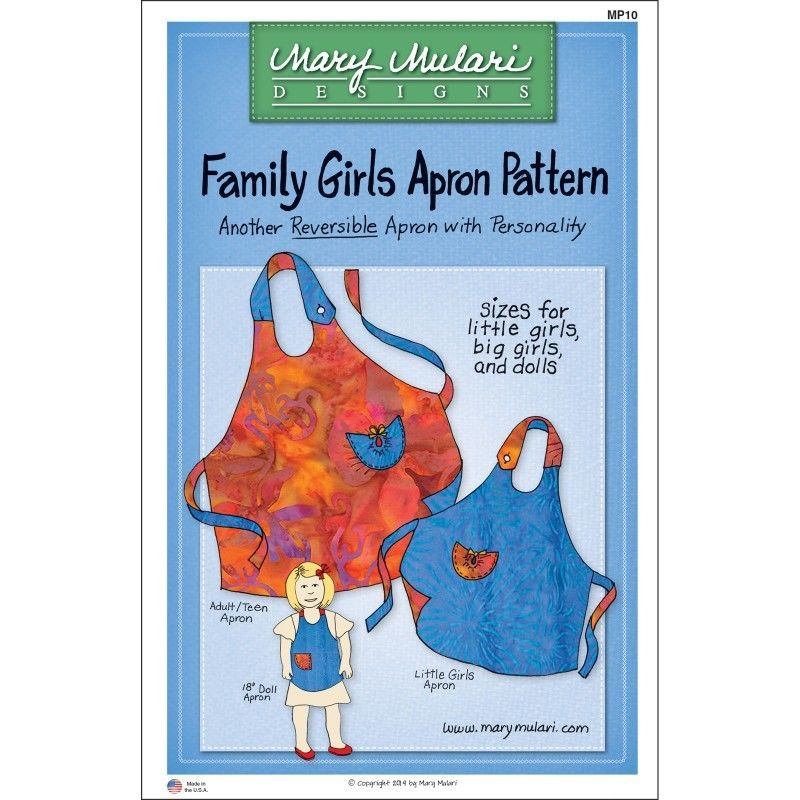 "MARY MULARI DESIGNS ""FAMILY GIRLS APRON"" Sewing Pattern"